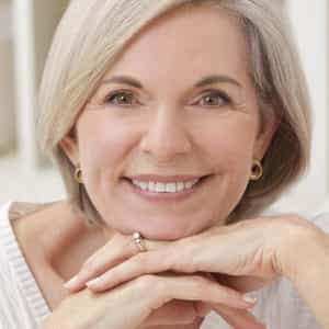 woman smiling after having smile design consultation